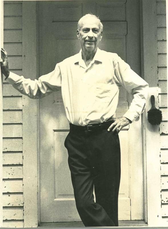 Robert Francis in the doorway of Fort Juniper