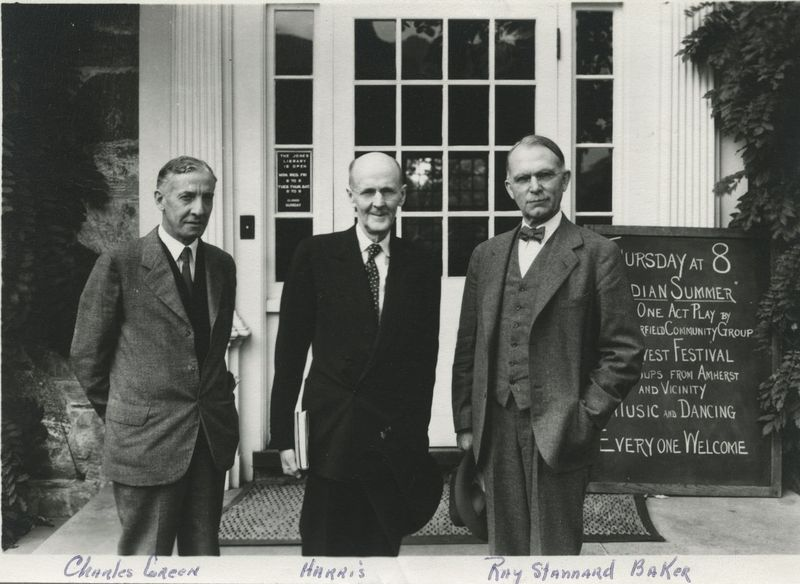 Ray Stannard Baker standing with Charles Green and Harris